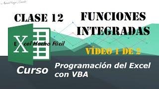 funciones integradas clase 12 vdeo 1 de 2 programacin del excel con vba