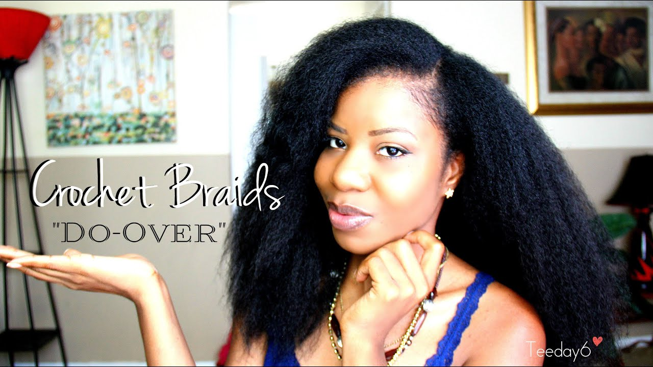 CROCHET BRAIDS: Blending My Natural Hair TEEDAY6 - YouTube