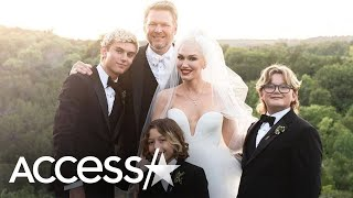 Gwen Stefani's Sons Suit Up In Sweet Wedding Pic