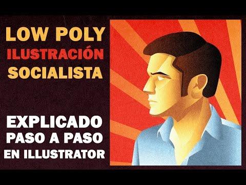 Low poly ilustración socialista explicado paso a paso