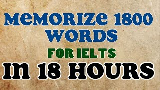 Technique to memorize 100  words @ per hour