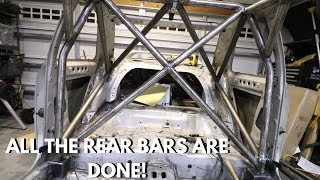 GC8 Rally Car - Rear Roll Cage Support Bars  - Subaru FIA Rally Roll Cage Build