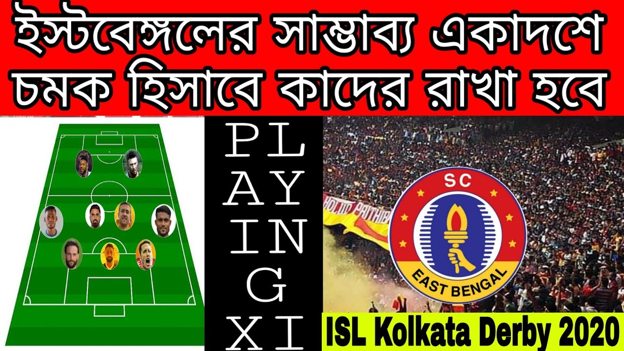 Eastbengal ISL Starting XI vs ATK Mohun Bagan on the first Kolkata Derby 2020