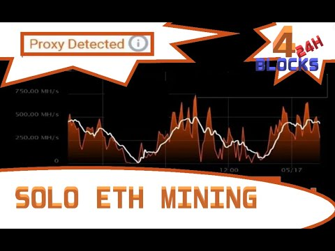 4 SOLO ETH BLOCKS FOUND +- 24 HOURS (250Mh/s) PROXY MINING!?!?