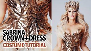 Sabrina crown and gold dress c…