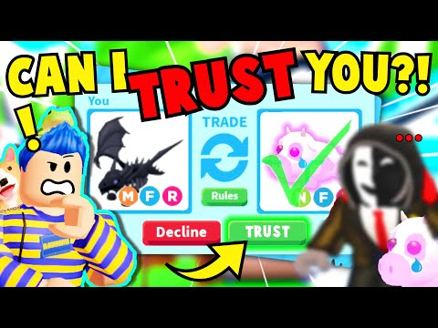 I *TRUST TRADED* My *STALKER* My SHADOW DRAGON For Best Friend's *HACKED* DREAM PET Adopt Me Roblox