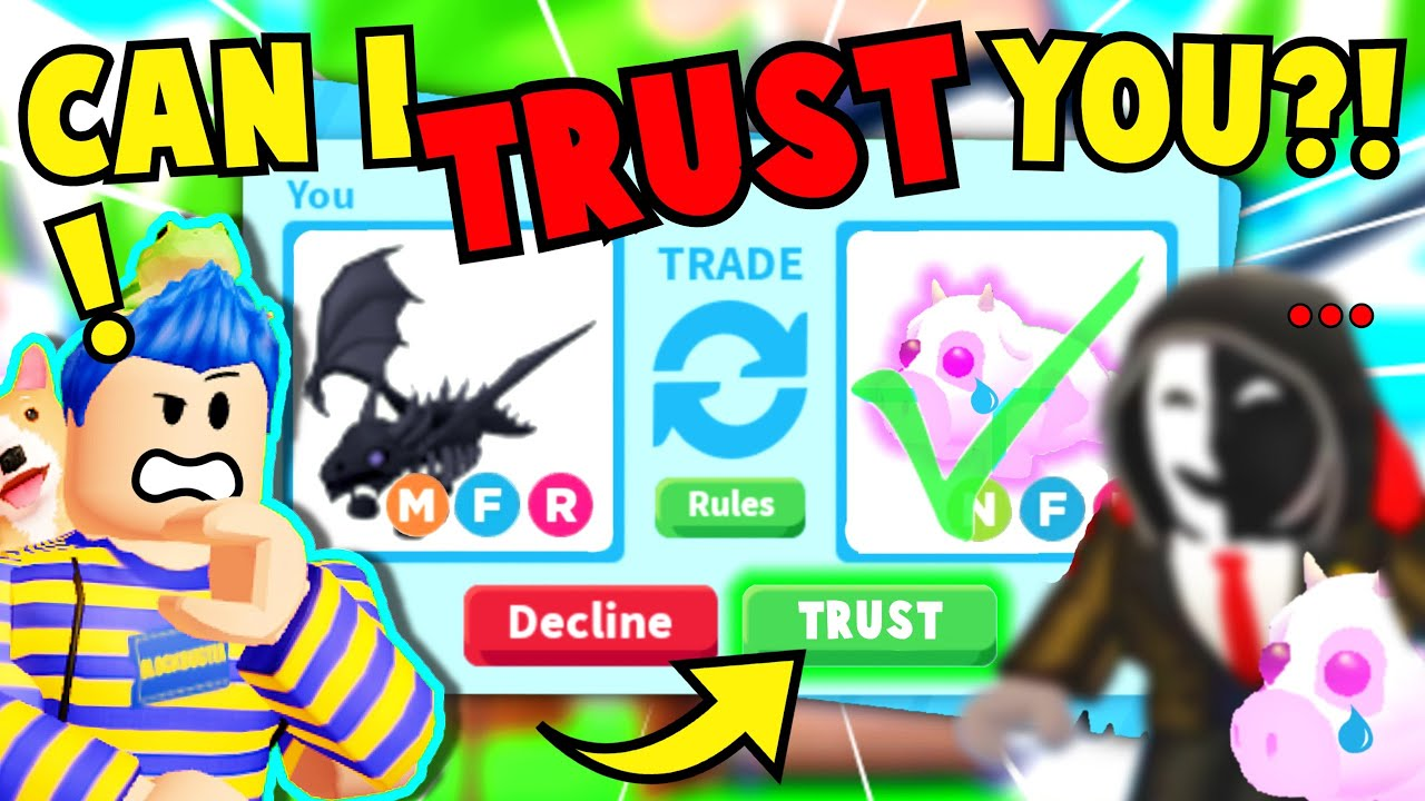 Download I *TRUST TRADED* My *STALKER* My SHADOW DRAGON For Best Friend's *HACKED* DREAM PET Adopt Me Roblox