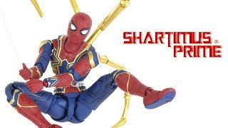 SH Figuarts Iron Spider Avengers Infinity War Movie Spider-Man Bandai Tamashii Nations Figure Review