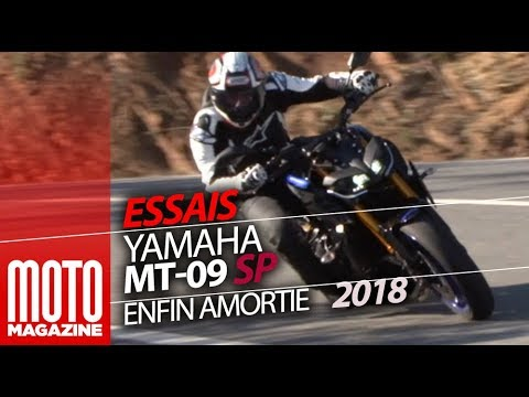 yamaha mt 09 sp en suspension essai moto magazine 2018 youtube. Black Bedroom Furniture Sets. Home Design Ideas