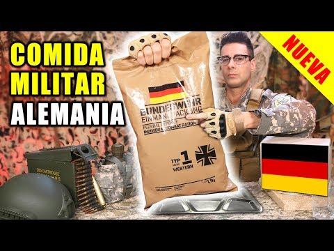 Probando NUEVA COMIDA MILITAR De ALEMANIA 24 Horas   Ración MRE Alemana Menú 1