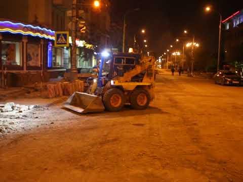 Ночная инспекция ремонта дорог Игорем Титенковым