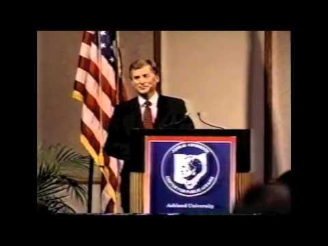 """Dan Quayle-""""Standing Firm""""-Ashbrook Center-February 13, 1995"""