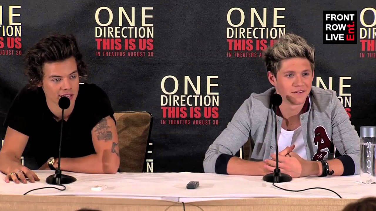 One direction this is us new york press conference with harry one direction this is us new york press conference with harry niall youtube kristyandbryce Images