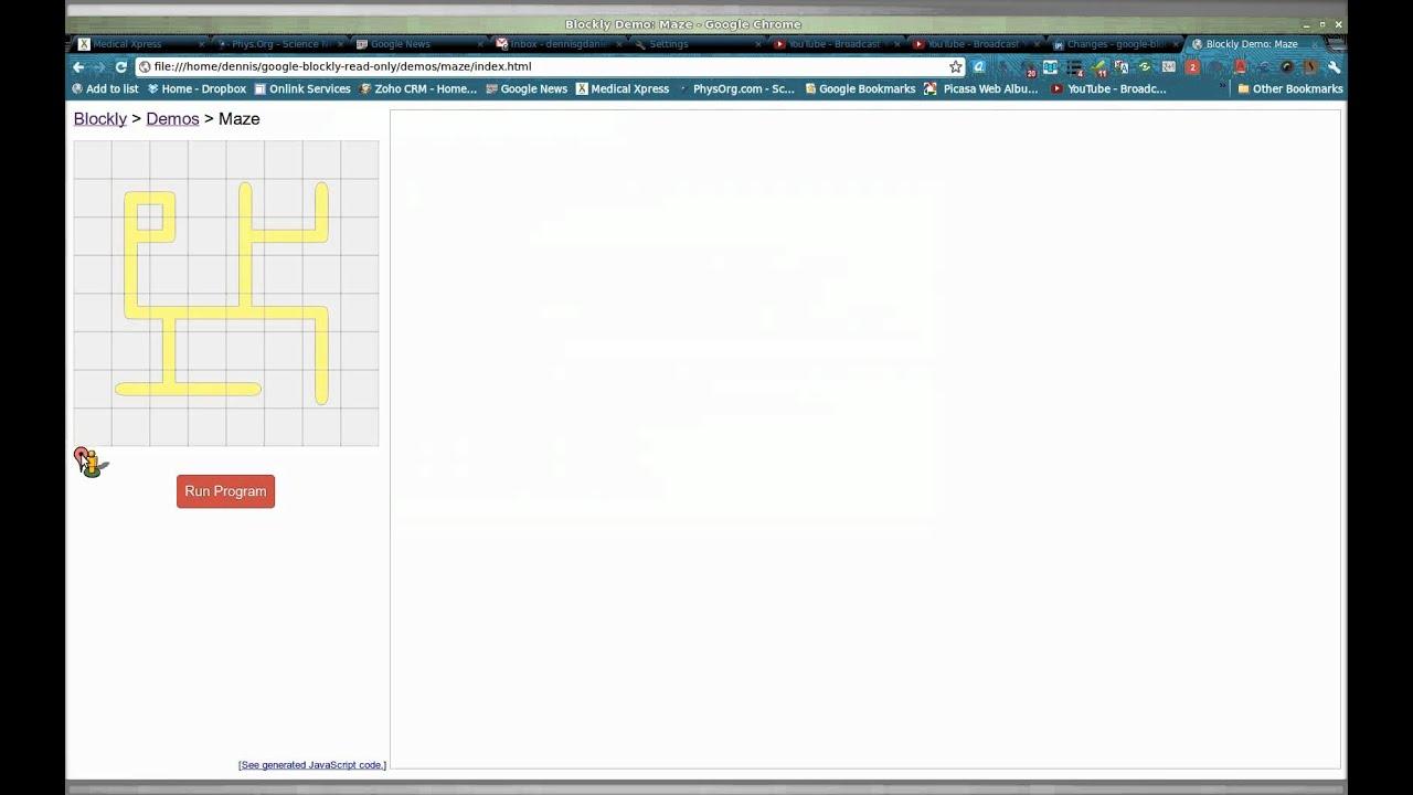 google blockly rev 226 bug report : invalid see description