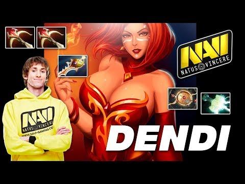 Dendi Lina HARD CARRY - Dota 2 Pro MMR Gameplay
