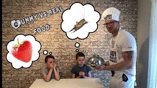 GUMMY VS REAL FOOD CHALLENGE