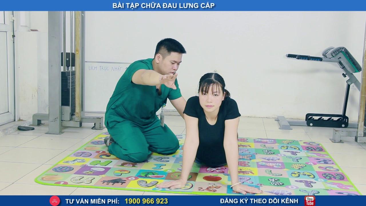 Bài tập chữa đau lưng cấp