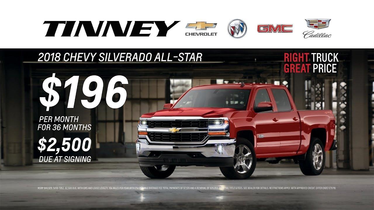 2018 Chevrolet Silverado Incentives And Rebates Tinney Automotive