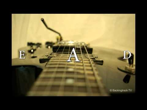 60's Rock & Roll Guitar Backing Track in A