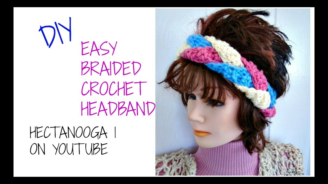 FREE Crochet Pattern -EASY BRAIDED HEADBAND- #1198yt Make any size ...