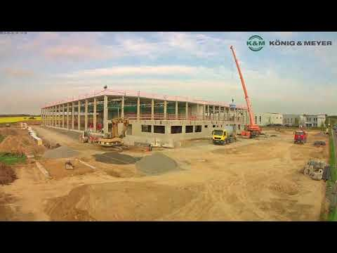 New Distribution Center: One Year Of Construction [Time Lapse]