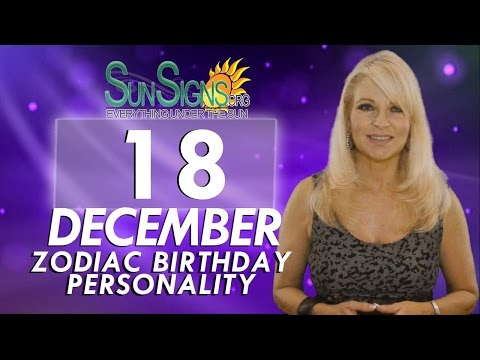 Facts & Trivia - Zodiac Sign Sagittarius December 18th Birthday Horoscope