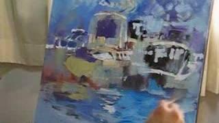 Singapore Artist Oil Painting Class Online Demo