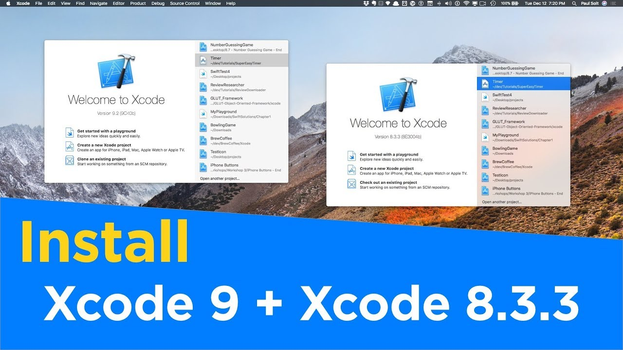 How to Install Xcode 8 3 3 Side by Side with Xcode 9