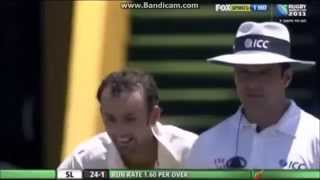 Nathan Lyon First Ball in Test Cricket