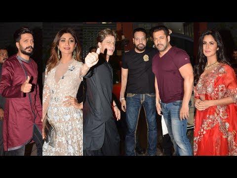 Salman Khan's Sister Arpita Khan's Diwali Party 2017 FULL HD Video | Shahrukh, Katrina, Shilpa