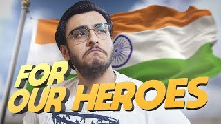 PUBG MOBILE LIVE: FOR OUR HEROES | INDIAN ARMY | #RIPBravehearts thumbnail