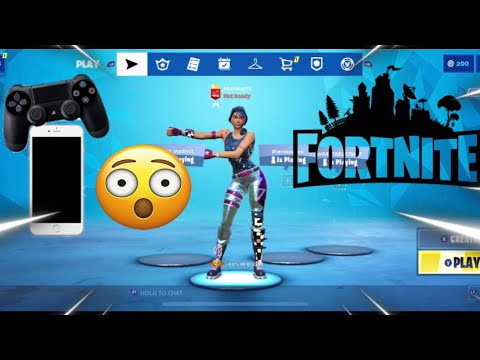 Fortnite Mobile With PS4 Controller, How to PLAY with PS4 Controller On iPhone/iPad (EASY METHOD)
