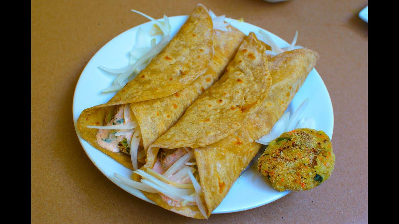 Vegetarian Frankie Popular Indian Street Food