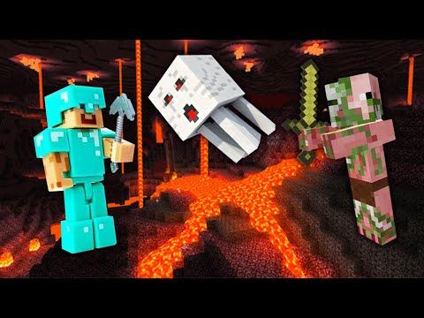 Майнкрафт видео обзор – Адская Крепость: Исследуем нижний мир Minecraft! – Игры для мальчиков.