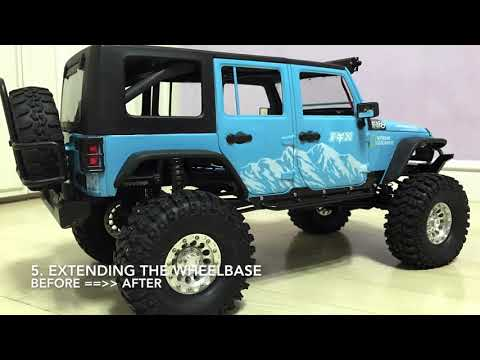 Traxxas TRX4 | Jeep Rubicon JK body installation work - YouTube