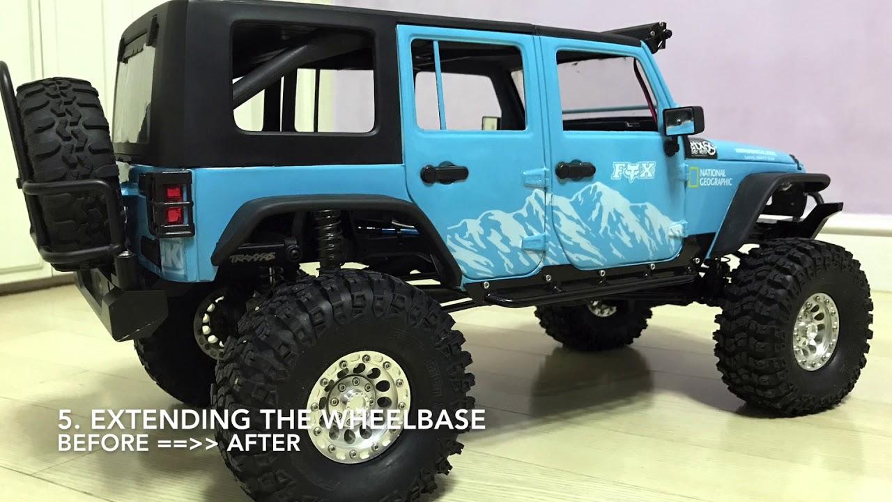 Traxxas TRX4 | Jeep Rubicon JK body installation work ...