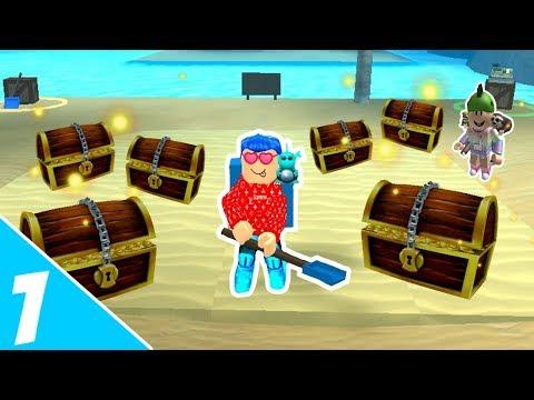 VI ER RIGE!! - Treasure Hunt Simulator #01 (Dansk Roblox)