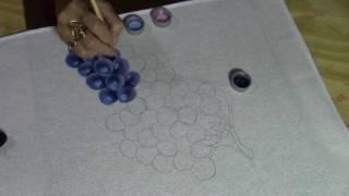 Como pintar uvas azuis com Val Prazeres