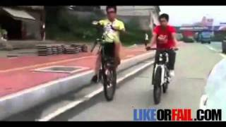 Funny Video Of How To Ride A One Wheel Bike