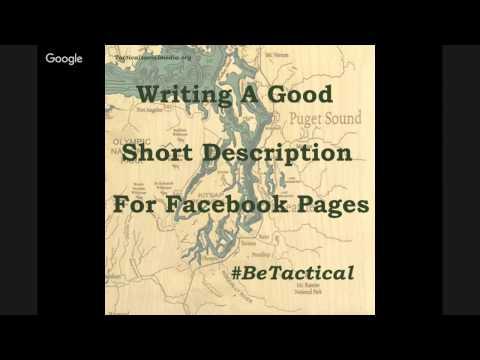 The Short Description For Facebook Business Pages