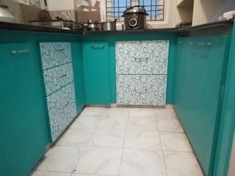 2bhk flat design by Eurostar kitchen