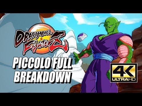 PICCOLO - Combos, Specials & Breakdown: DragonBall FighterZ (4K HD)