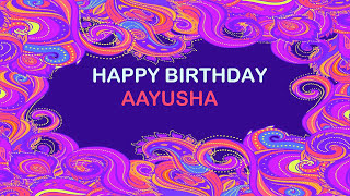 Aayusha   Birthday Postcards & Postales