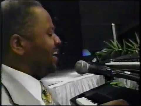 "Apostle Daryl Coley plays piano and sings ""II Chronicles"" If My People..."