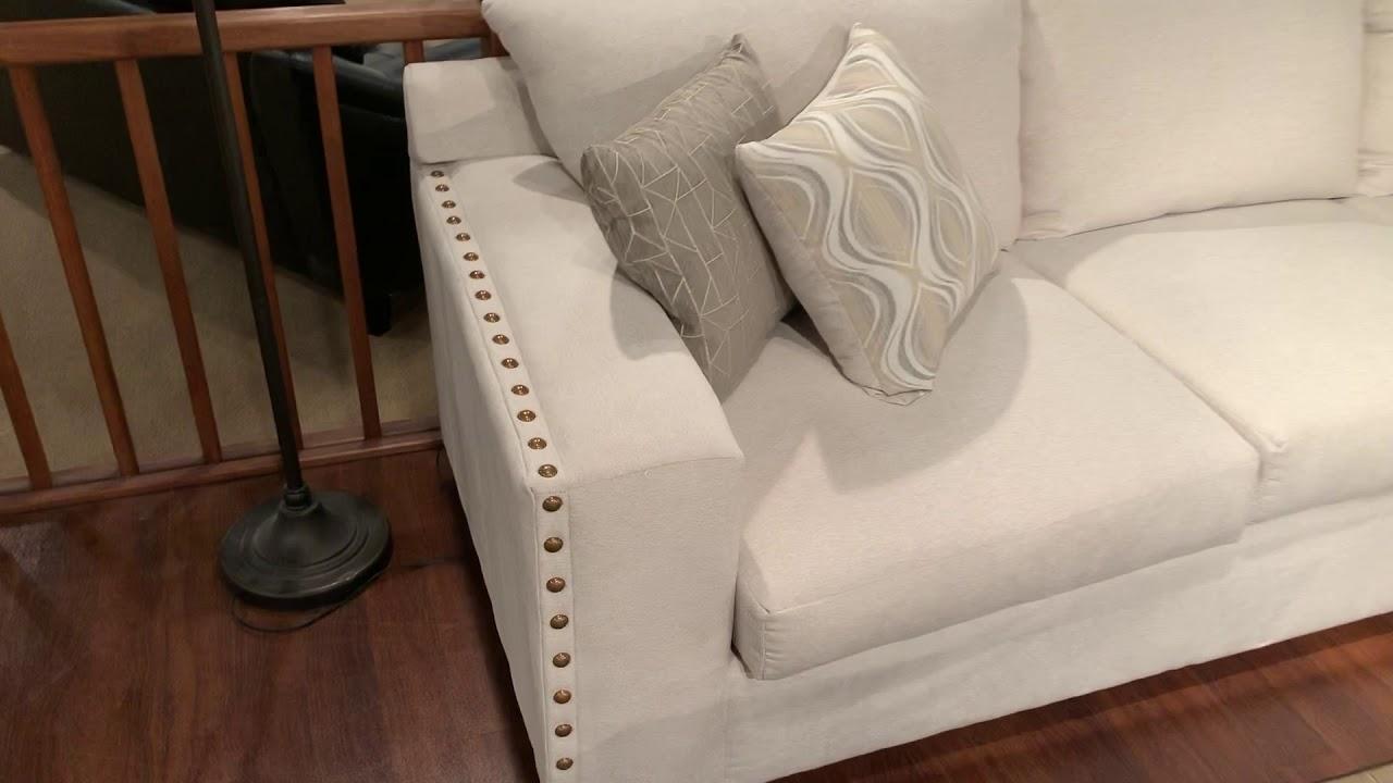 Coaster 508610 Aria Oatmeal Nail Head Trim Sectional Sofa Wyckes Furniture