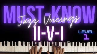 24 Must-Know ii-V-I Voicings for Beginners │Jazz Piano Lesson #30