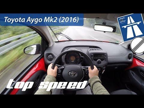 Toyota Aygo Mk 2 (2016) on German Autobahn - POV Top Speed Drive