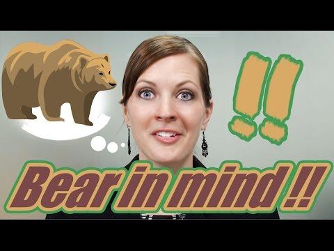 """Expresiones en Inglés 7/100. ¿Qué significa: """"Bear in mind"""" ?"""