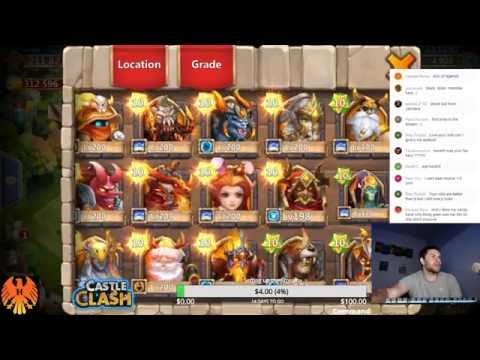 Castle Clash: 50k Gems And HBM AE & AD Victories!!! FULL LIVE STREAM!