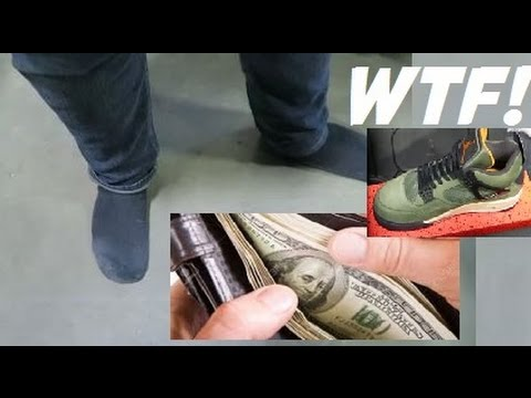 SNEAKERHEAD SELLS SHOES OFF HIS OWN FEET IN PUBLIC